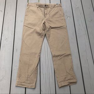 POLO RALPH LAUREN Tan Plaid Lined Chinos 32 x 30